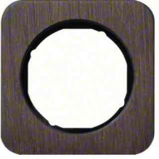 Рамка одинарная R1, дерево черная вкладка, 10112354