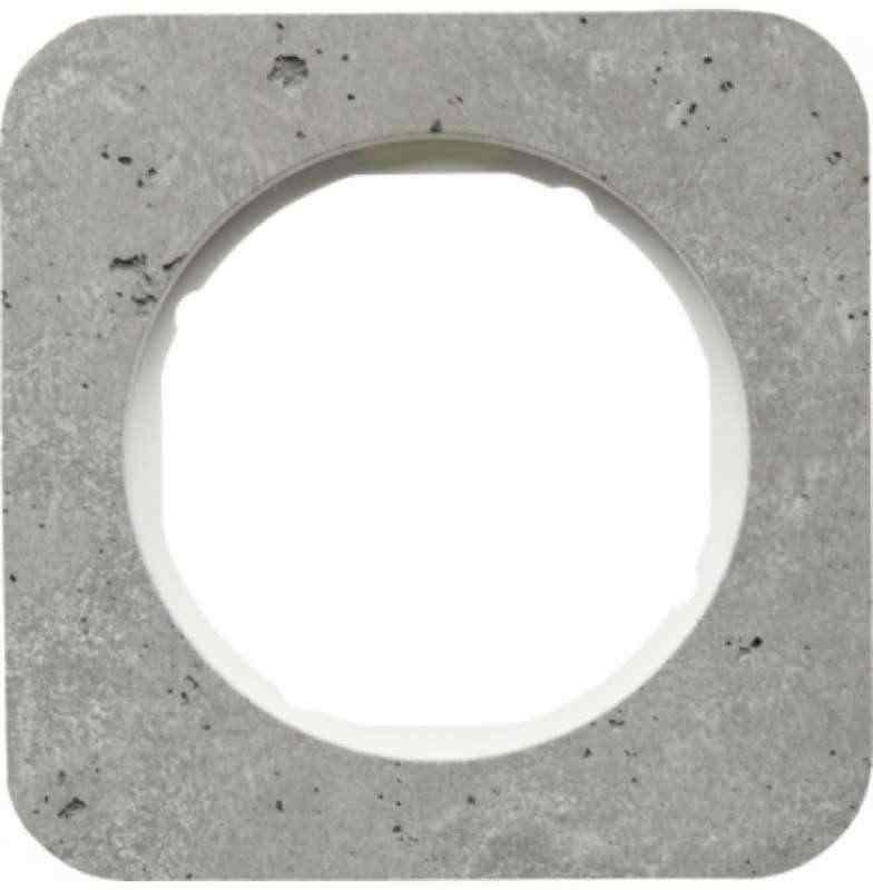 Рамка одинарная R1, бетон белая вкладка, 10112379