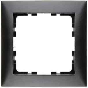 Рамка одинарная S.1 пластик антрацит 10119949