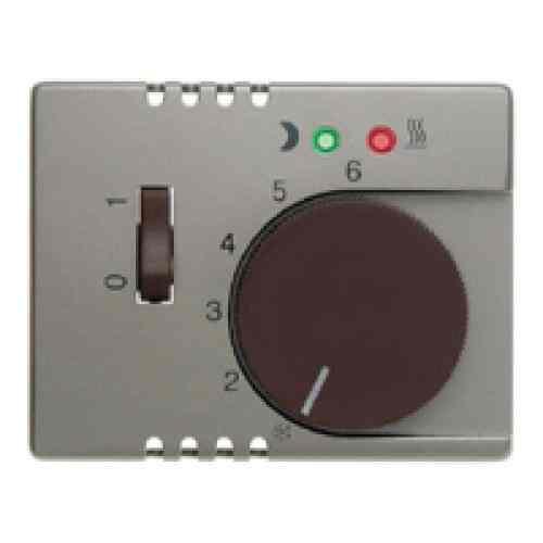 Термостат 230 В~ 10А с выносным датчиком для электрического подогрева пола механизм Eberle, светлая бронза FRe 525 22 + 16729011