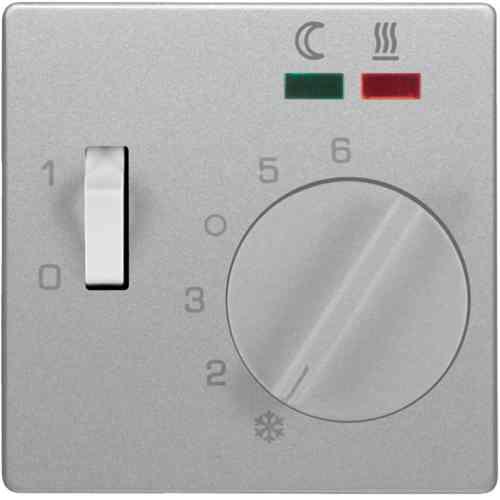 Терморегулятор теплого пола с датчиком пола, алюминий с эффектом бархата 16726084 + FRe 525 22