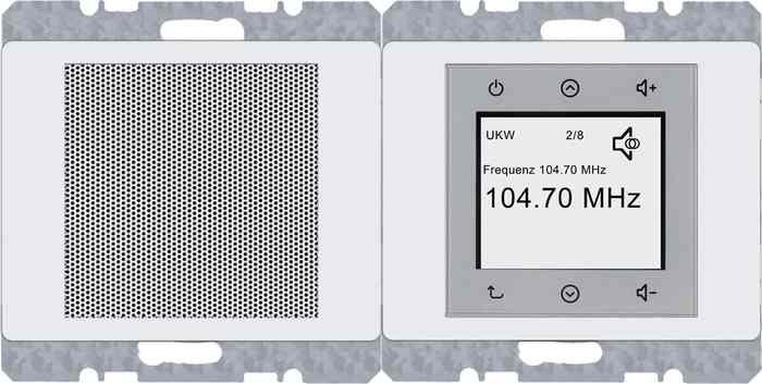 Радио Touch Berker c динамиком, белый глянцевый 28800069