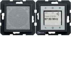 Радио Touch Berker c динамиком, антрацит 28801606, , Цвет: Антрацит, Материал: Пластик, Тип товара:: Радио, Гарантия:: 12 месяцев, Единицы измерения:: шт