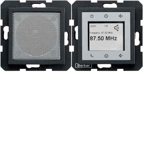 Радио Touch Berker c динамиком, антрацит 28801606