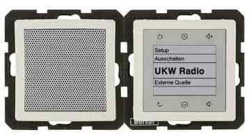 Радио Touch Berker c динамиком, слоновая кость с эффектом бархата 28806082