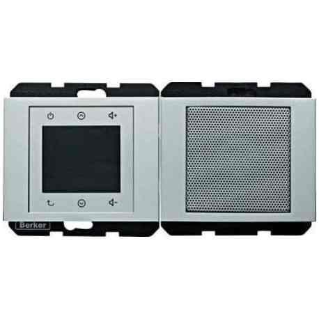 Радио Touch Berker c динамиком, алюминий 28807003