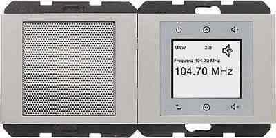 Радио Touch Berker c динамиком, нержавеющая сталь 28807004