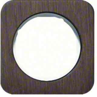 Рамка одинарная R1, дерево белая вкладка, 10112359