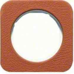 Рамка одинарная R1, кожа белая вкладка, 10112369, , Гарантия:: 12 месяцев, Цвет: Кожа, Тип товара:: Рамка, Единицы измерения:: шт, Материал: Кожа