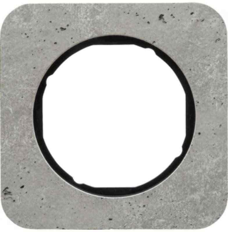 Рамка одинарная R1, бетон вкладка черная, 10112374