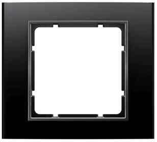 Рамкa одинарная B.3, алюминевая, черный/антрацит 10113005