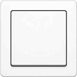 Рамка одинарная Q.1. полярная белизна с эффектом бархата 10116089