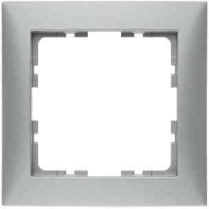 Рамка одинарная S.1 пластик алюминий 10119939