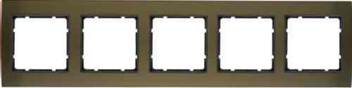 Рамкa пятерная B.3, алюминевая, коричневый/антрацит 10153001