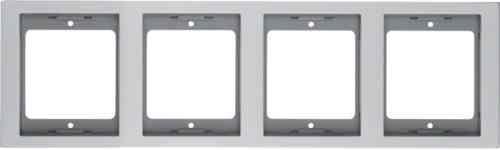 Рамка четырехместная вертикальная K.5 металл алюминий 13437003