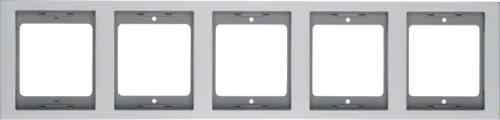 Рамка пятиместная вертикальная K.5 металл алюминий 13537003