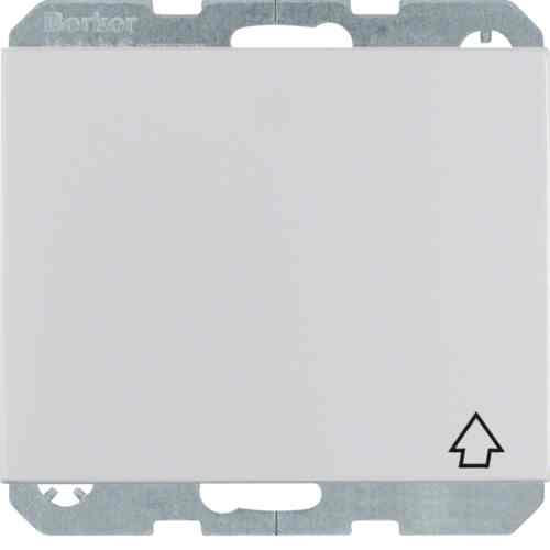 Розетка с заземляющими контактами, с откидной крышкой металл алюминий 47517103