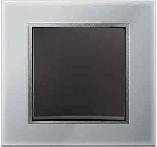 Рамка одинарная B.7. стекло алюминий 10116414