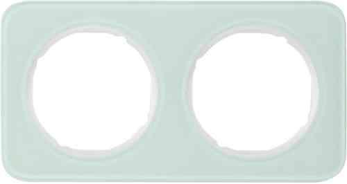 Рамка 2 местная стекляная, Berker R1, полярный белый, 10122109
