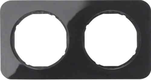 Рамка 2 местная, Berker R1, черная, 10122145