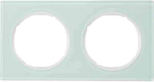 Рамка 2 местная стекляная, Berker R3, 10122209