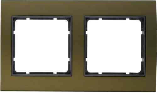 Рамкa двойная B.3, алюминевая, коричневый/антрацит 10123001