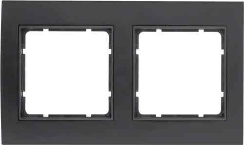 Рамкa двойная B.3, алюминевая, черный/антрацит 10123005