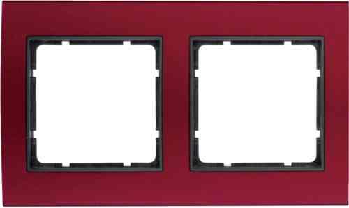 Рамкa двойная B.3, алюминевая, красный/антрацит 10123012