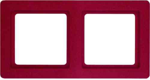 Рамка двойная Q.1. красная с эффектом бархата 10126062