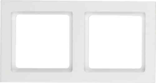 Рамка двойная Q.3 полярная белизна с эффектом бархата 10126099