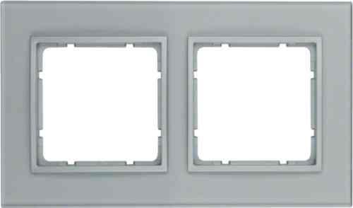 Рамка двойная B.7. стекло алюминий 10126414