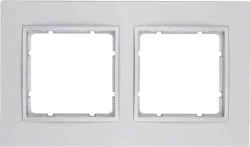 Рамка двойная B.7 пластик алюминий 10126424