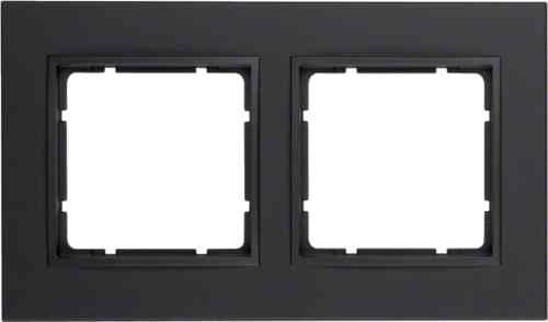 Рамка двойная B.7 пластик антрацит 10126626