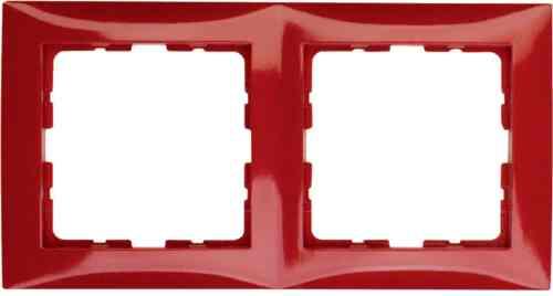 Рамка двойная S.1 красный глянцевый 10128962