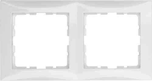 Рамка двойная S.1 полярная белизна с блеском 10128989