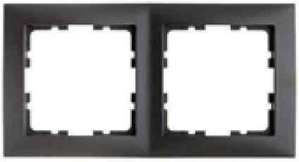Рамка двойная S.1 пластик антрацит 10129949
