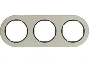 Рамка тройная Berker R.classic нержавеющая сталь/черный 10132004