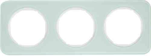 Рамка 3 местная стекляная, Berker R1, полярный белый, 10132109