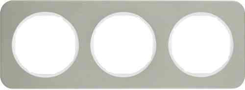 Рамка 3 местная нержавеющая сталь, Berker R1, 10132114
