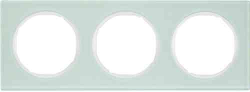 Рамка 3 местная стекляная, Berker R3, 10132209