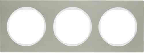 Рамка 3 местная нержавеющая сталь, Berker R3, 10132214