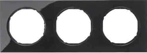 Рамка 3 местная, Berker R3, черная, 10132245