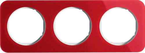 Рамка тройная R1, акрил красный, полярная белизна, 10132349