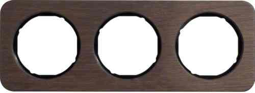 Рамка тройная R1, дерево черная вкладка, 10132354