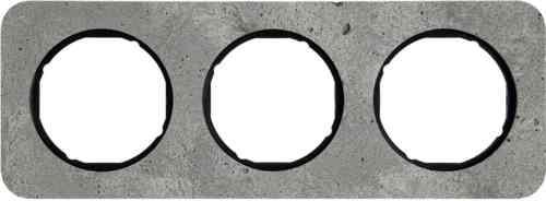 Рамка тройная R1, бетон вкладка черная, 10132374