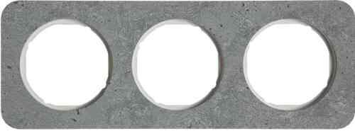 Рамка тройная R1, бетон белая вкладка, 10132379