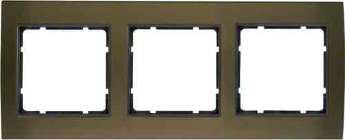 Рамкa тройная B.3, алюминевая, коричневый/антрацит 10133001