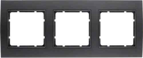 Рамкa тройная B.3, алюминевая, черный/антрацит 10133005