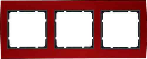 Рамкa тройная B.3, алюминевая, красный/антрацит 10133012