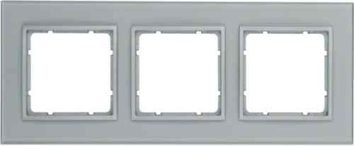 Рамка тройная B.7. стекло алюминий 10136414